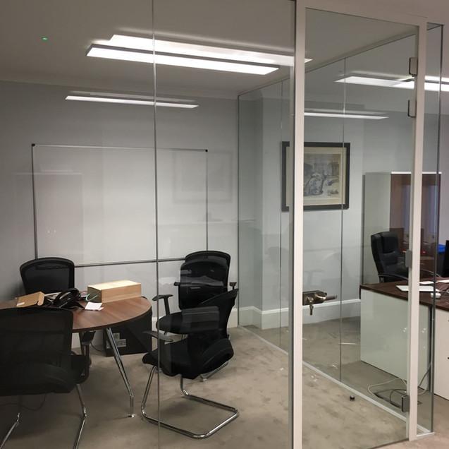 frameless glass door with frame