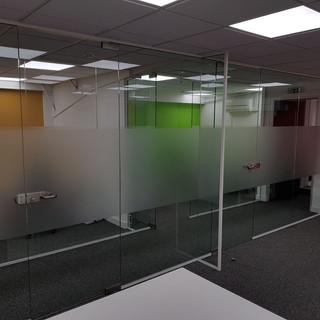 Frameless glass doors London