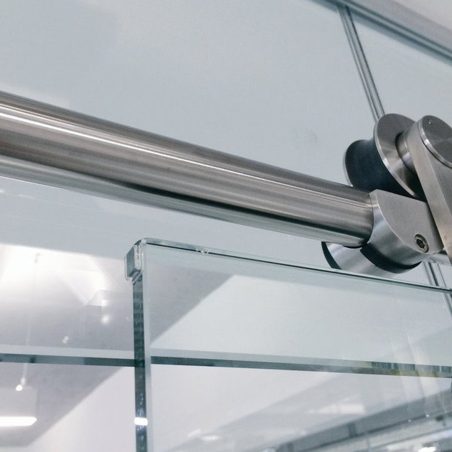 sliding glass rail