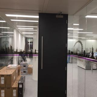 Frameless glass partitions London