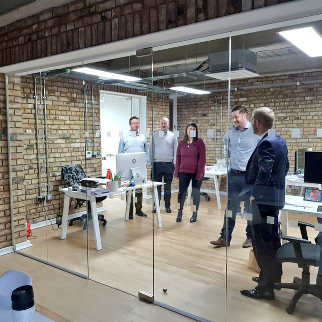 Glass office partitions London