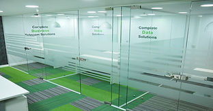 glass meeting rooms