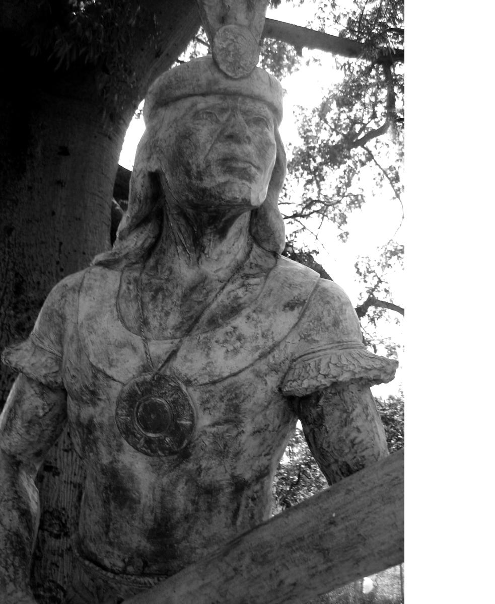Estatua de Agüeybaná, el Bravo, en Ponce.