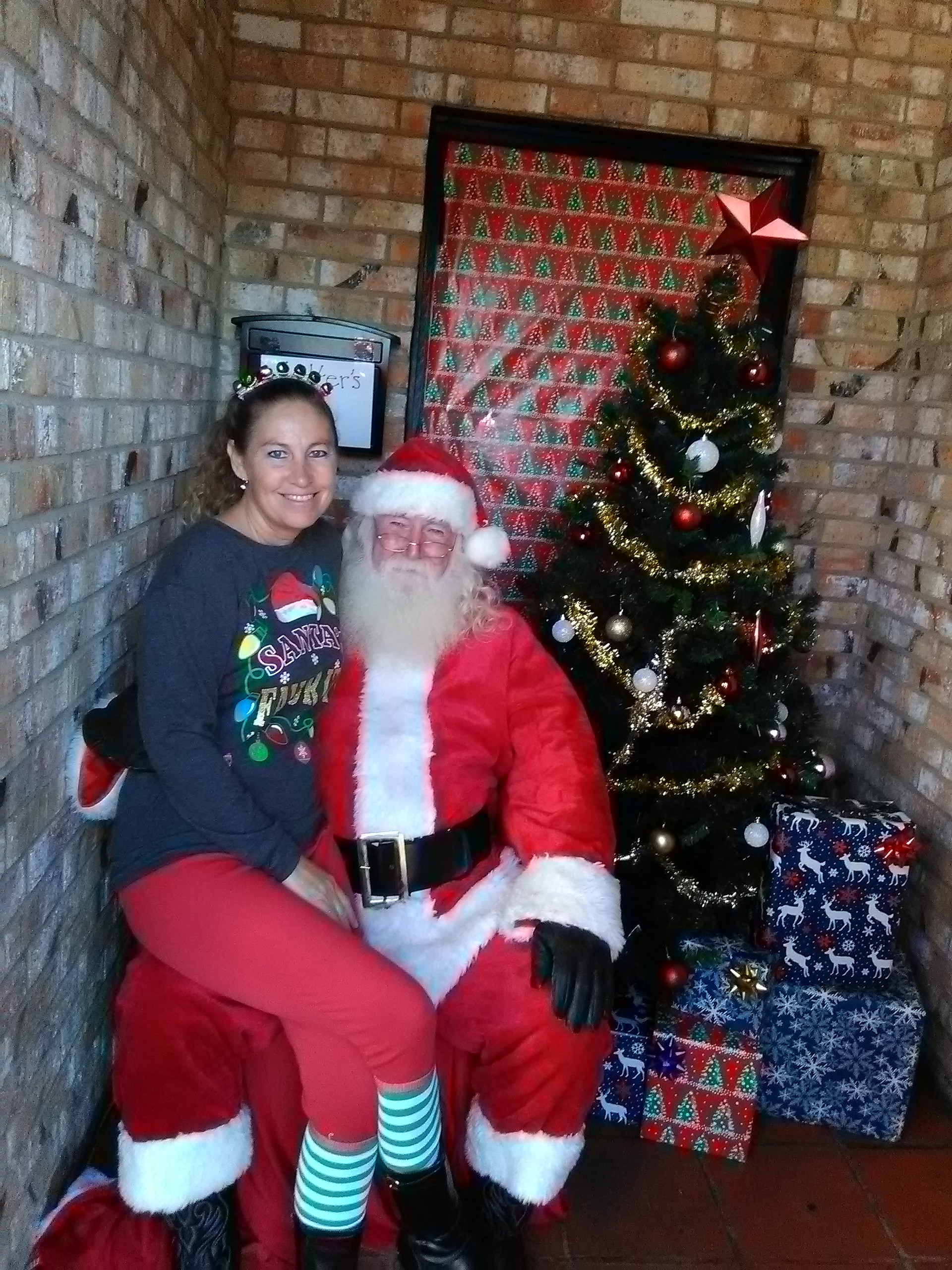Santa Claus with Mrs. Claus