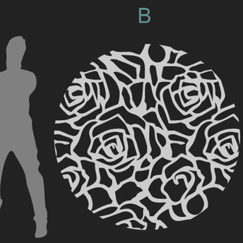 ROSES PATTERN A/B/C