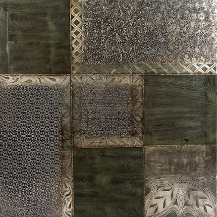 PATCHWORK SILVER WOOD
