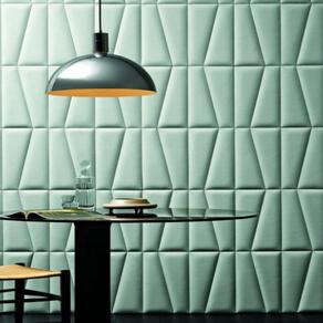 3d Leather wall panels. Pannelli in pelle 3d per pareti.