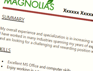 How to make your resume stand out Magnolias Consulting Group