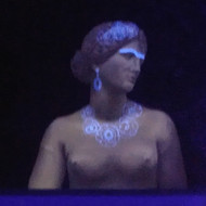 Aphrodite with Blacklight paint
