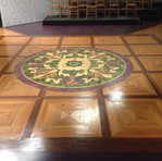 Final medallion and parque floor