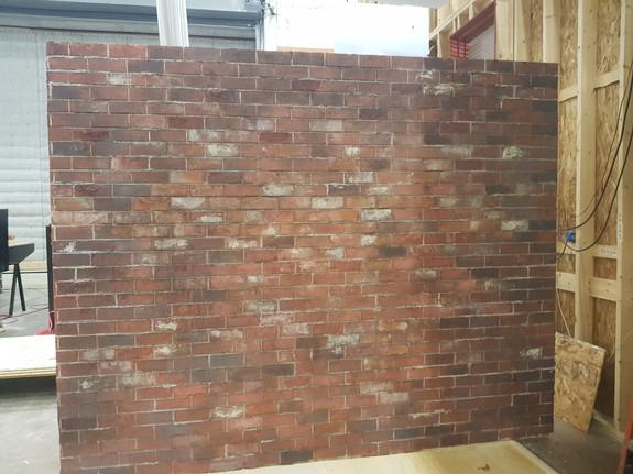 brick backing wall