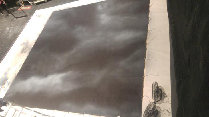 cloud drop on velour