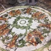 Brown marble glazes