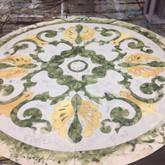 Green marble tufbak masking applied