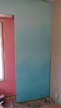 Ombre wall finish