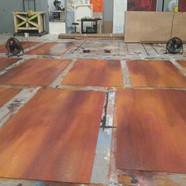 wood tone base and glazes