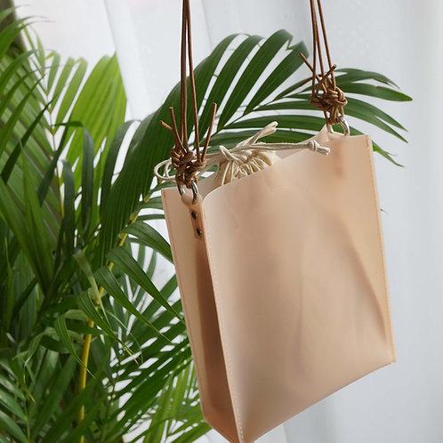 Square Mini PVC Bag -Pink-