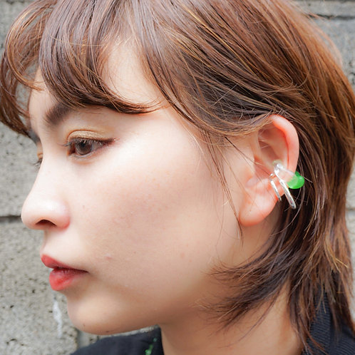 Green×Clear & Metal Earcuff Set