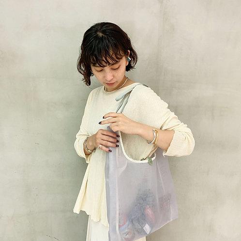 Sheer Tote Bag -Gray-