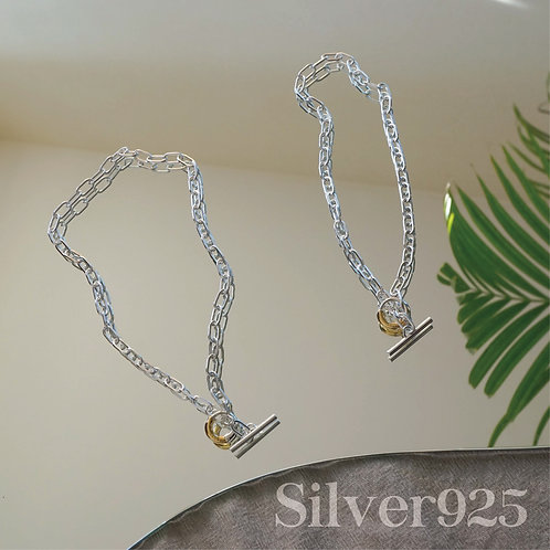Silver925 Combi Chain Necklace