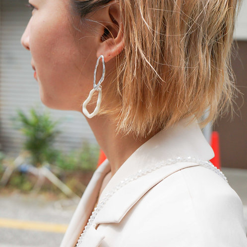 Double Hoop Pierce  (Silver925 Plated/14K Gold Plated)
