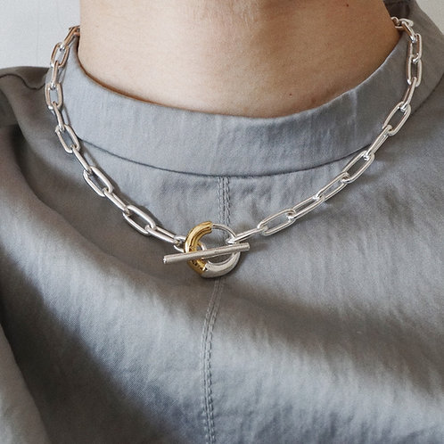 Combi Chain Necklace (SV925 Plated&14K Gold Plated)