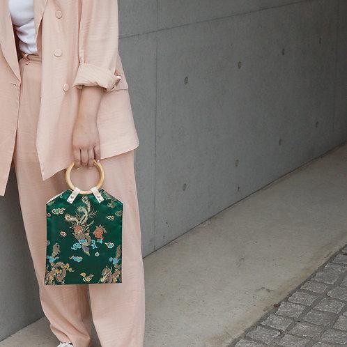 ●4月限定SALE● China Pattern Bag -Green-