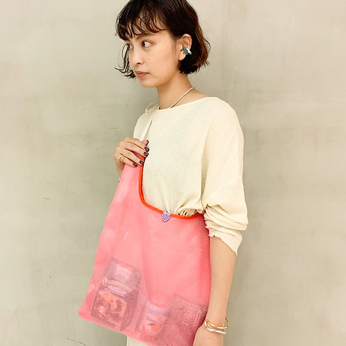 Sheer Tote Bag -Pink-