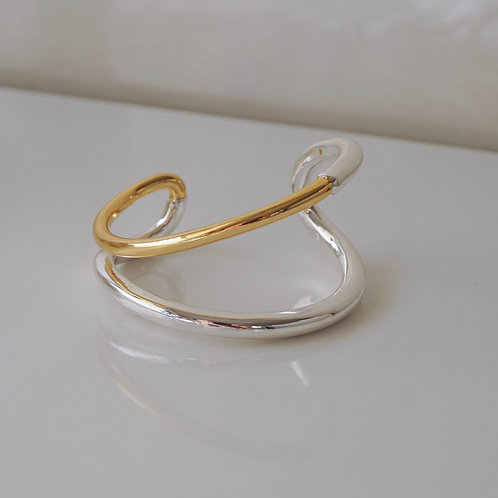 Combi Bangle (SV925 Plated&14K Gold Plated)