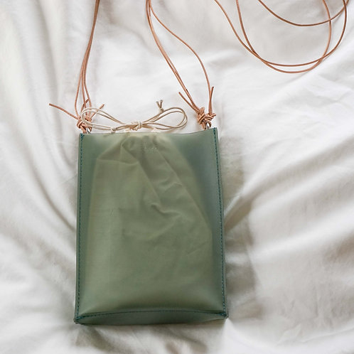 Square Mini PVC Bag -Green-