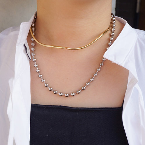 4way Choker (Stainless/14K Gold Plated)