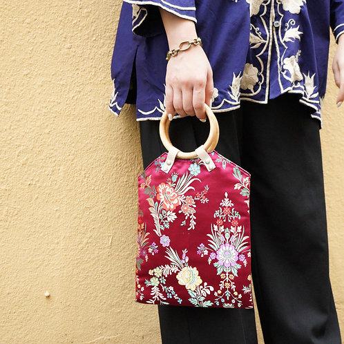 China Pattern Bag -Azuki-