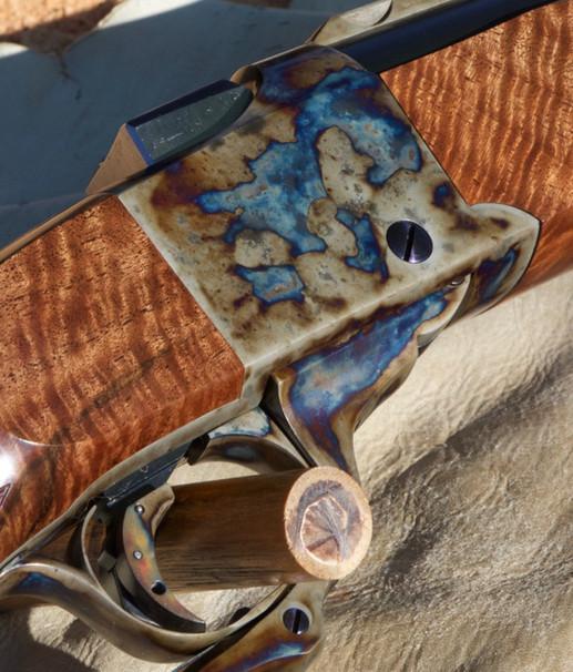Ruger No 1 custom wood color case harden