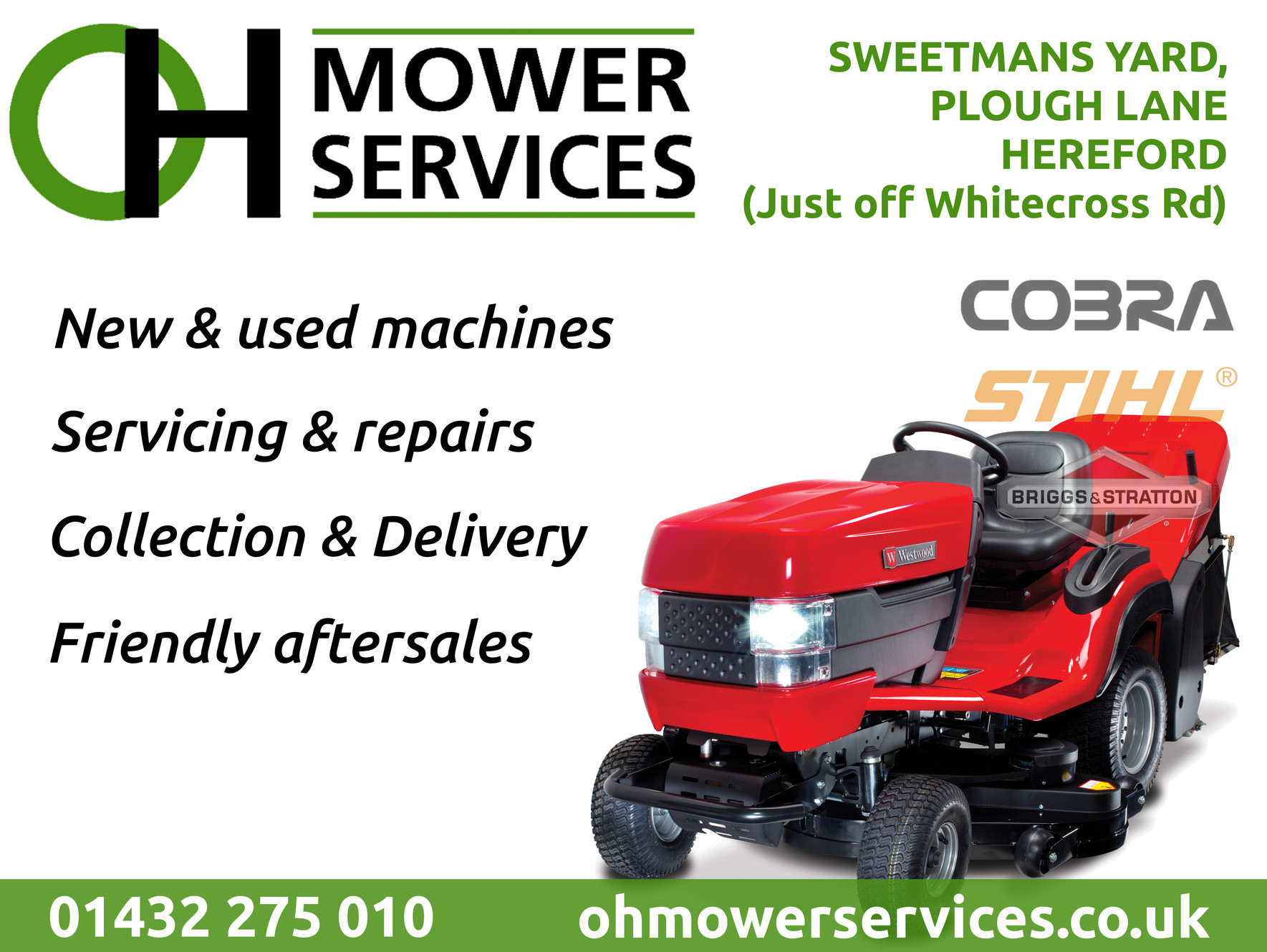 O  H  Mower Services in Hereford