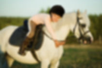 Girl riding a horse on nature.jpg
