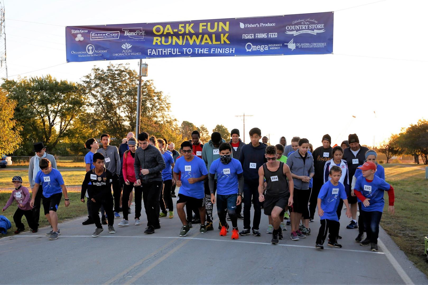 Oklahoma Academy 2018 5K Start