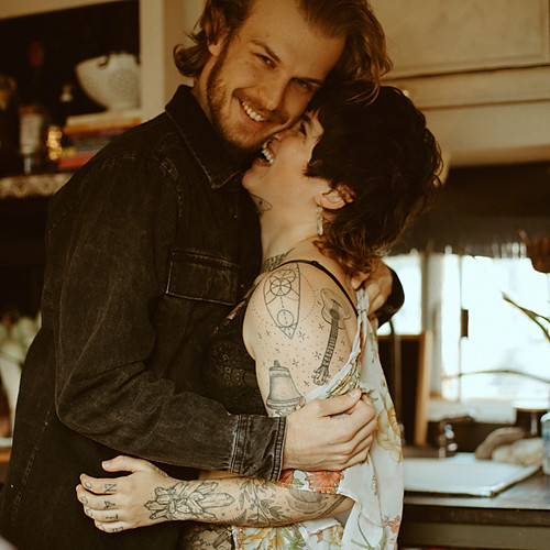 Magical Tiny Home Couple Boudoir Session | Indianapolis, IN