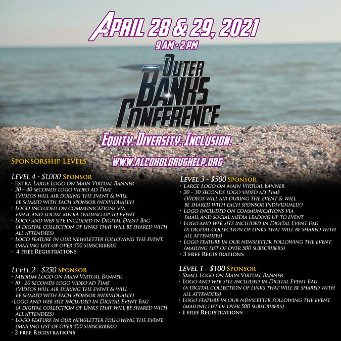 Sponsorship Packages OBX Conference 2021