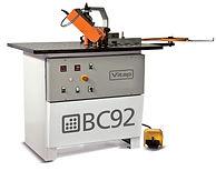 Coladeira de bordos para peças curvas Vitap modelo BC 92