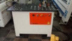 Coladeira de bordos manual semi nova para colagem de peças curvas e retas completa com grupo refilador e grupo destopador