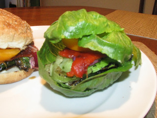 "Grilled Portabella ""Sandwich"" 2 ways - Vegan and Gluten Free"