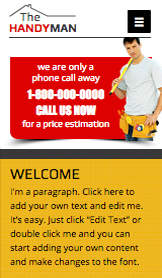 Business website templates – Handyman