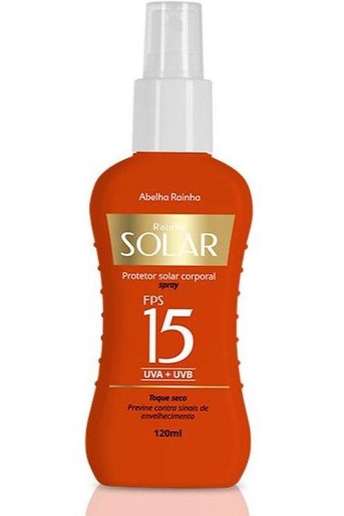 3437 - Rainha Solar - Protetor Solar Corporal 15 FPS Spray 120ml