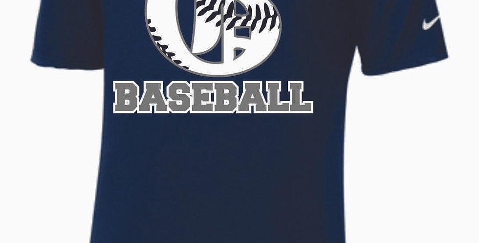 Granville Baseball Nike Navy Shortsleeve