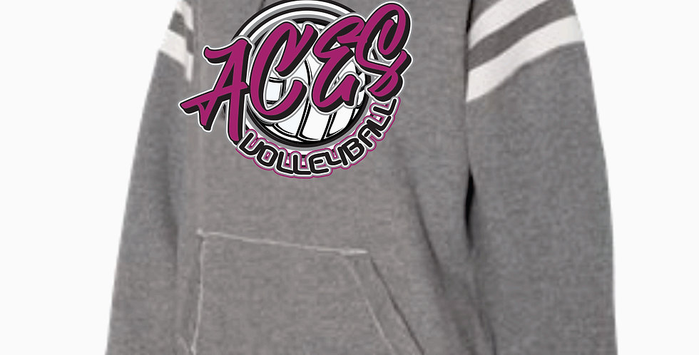 Aces Volleyball J America Grey Script Simple Hood