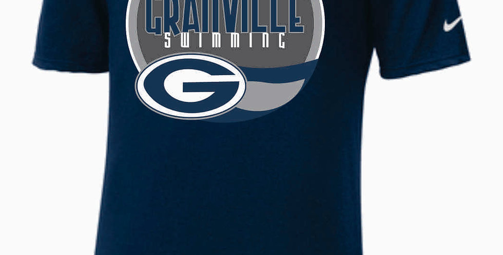 GHS Swimming Navy Nike Dri-Fit Cotton/Poly T-Shirt