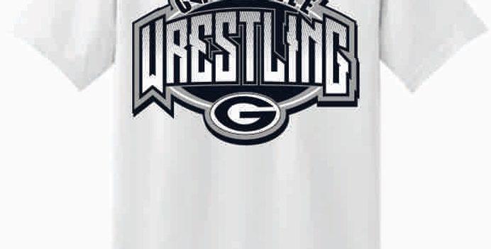 GHS Wrestling White Cotton T-Shirt