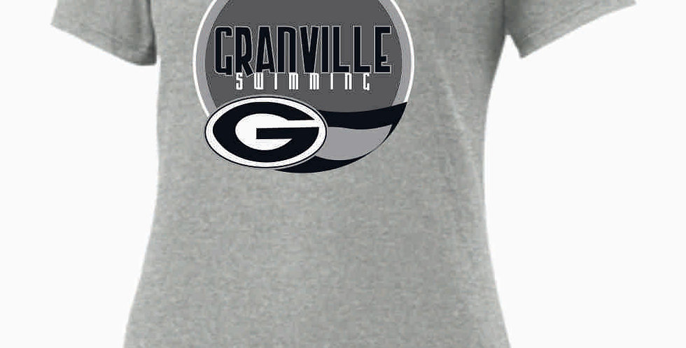 GHS Nike Swimming Lt Grey Ladies Core Cotton Scoop Neck Tee