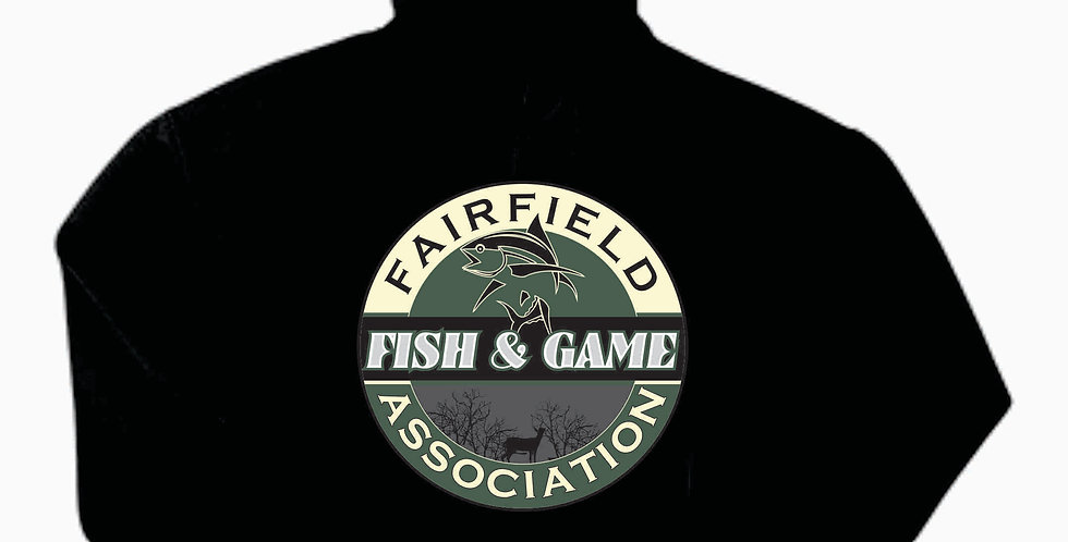 Fairfield Fish and Game Black Gildan Cotton Hoody