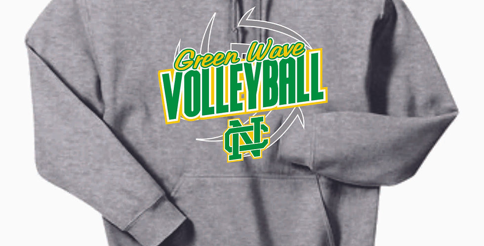 NC Volleyball Grey Cotton Hoody